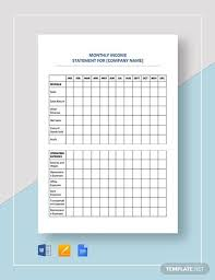 Monthly Profit And Loss Statement Template Sample Income Statement 11 Examples In Excel Pdf