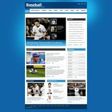 Baseball Websites Templates Baseball Templates Baseball Web Templates