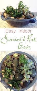 Indoor Rock Garden Easy Indoor Succulent Rock Garden A Houseful Of Handmade