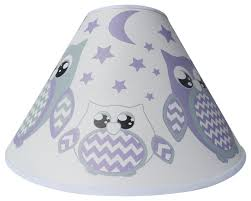 purple owl lamp shade children s nursery room decor