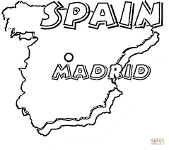 Small Picture of spain coloring page