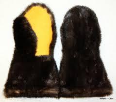 otter fur mittens