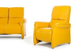 divani casa sunflower modern yellow italian leather sofa set