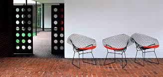 bertoia diamond chair outside