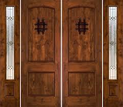 rustic double front door. Exterior Rustic Double Doors With Side Panels Front Door O