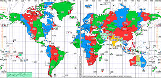 Standard Time Zone Chart Of The World From World Time Zone