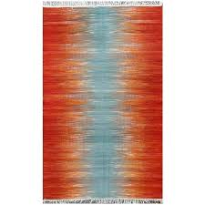 modern orange rug modern ogee orange rug