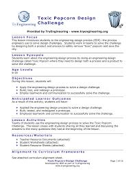Engineering Design Process Test Answers Toxic Popcorn Design Challenge