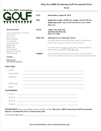 Tournament Sign Up Sheets 100th Anniversary Golf Tournament Utica Zoo