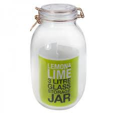 rose gold clip jar glass 3lt