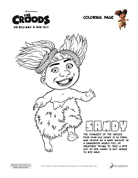 The Croods Sandy Coloring Page Enter