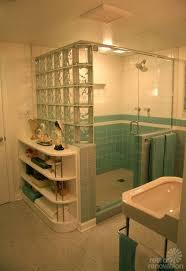 Bathroom: Interior Decoration Ideas Stunning Glass Block Shower In Batroom  - Shower Glass Blocks