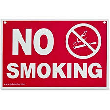 No Smoking Signage Amazon Com Advantus No Smoking Sign 12 X 8 Inches Red White