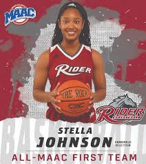 """Rider Women's Basketball on Twitter: """"UNANIMOUS! Junior Stella Johnson is  the only player in the MAAC to be a unanimous selection to the All-MAAC  First Team #GoBroncs #MAACHoops #RiderHEART… https://t.co/1ojzbDePLs"""""""