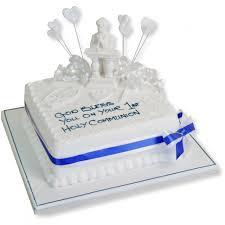 Square Figurine Holy Communion Cake Celebration Cakes The Cake Store