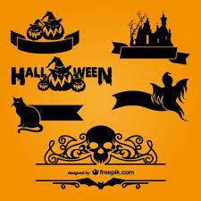 Halloween Template Halloween Logo Templates Vector Free Download