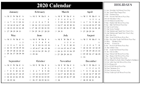 Printable Calendars 2020 With Holidays Printable August Calendar Template