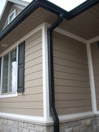 House With Black Trim Tan House Black Shutters Red Door For The Home Pinterest