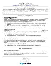 Customer Service Representative For A Call Center Resume