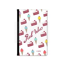 Red Velvet Ice Cream Cake Pattern Passport Cover Candysky Studio