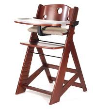 badger basket embassy adjule wood high chair with tray cherry hayneedle