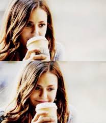 Aunt jenna patted my back and then released me. Nina Dobrev Elena Gilbert Katherine Pierce Coffee Time Katherine Pierce Mystic Falls Elena Gilbert