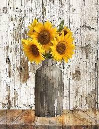 Image Mason Jar Rustic Floral Country Farmhouse Sunflower Home Decor Matted Wall Picture 123rfcom Rustic Floral Country Farmhouse Sunflower Home Decor Matted Wall