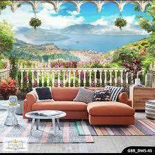 Wallpaper Dinding Pemandangan Alam 3d