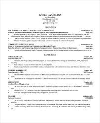 Computer Science Resume Sample Template Business
