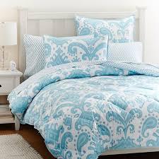 goa ikat comforter sham sky blue