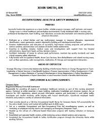 Resume For Healthcare Health And Safety Resume Templates Safety Manager Resume Sample