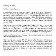 Letter Of Recommendation Template Teacher Teaching Letter Of Recommendation Template Wilkesworks