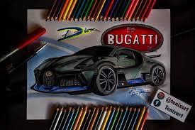 Es un dibujo de una perspectiva baja, con bastantes detalles como para tener un buen ejemplo de dibujo de coche deportivo. Tenizart Bugatti Divo Dibujo Arte Ilustracion Desenho Facebook