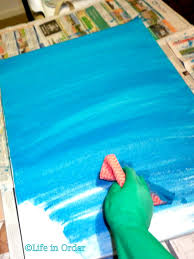 life in order diy beach themed canvas