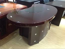 professional office furniture half round european style semi circle 100 mdf executive office desk