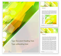 Abstract Background Design Word Template