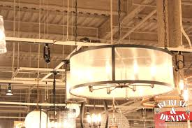 mesmerizing burlap drum shade chandelier 12 shades with exciting for industrial home interior design and ceiling on chandeliers