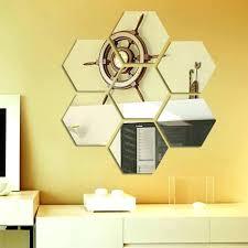 hexagon wall mirrors hexagon wall mirrors 7 acrylic decorative hexagon mirror wall sticker hexagon mirror wall