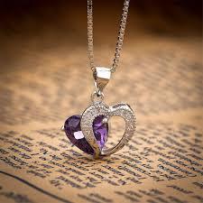 heart love pendant necklace love 925 sterling silver womens birthday birthstone ssnp32329