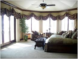 Nice ... Large Window Curtain Ideas : Incredible Large Window Wall Curtain With  Elegant Drapes Bedroom And Ceiling ...