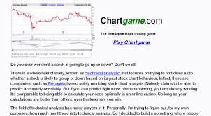 Chartgame Com Chartgame Stock Market Simul Chart Game