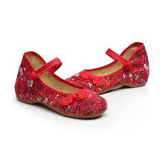 Veowalk <b>Chinese</b> Ruyi <b>Knot</b> Women Vintage Floral Canvas Ballet ...