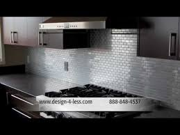 Glass Tile Kitchen Backsplash Designs Interesting Decorating Design