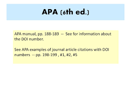 Ppt Formatting Class Assignments Apa 6 Th Ed Powerpoint