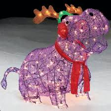 trim a home 27 lighted hippo with antlers outdoor christmas