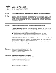 resume examples for nursing assistant  resume examples
