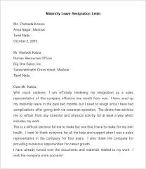 Awesome Collection of How To Write Letter Of Resignation After Maternity  Leave With .