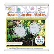 mosaic garden stake kit