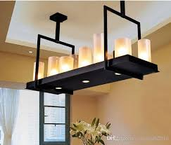 evin reilly altar modern pendant lamp remote control chandelier candle light fixture suspension lamp rectangular wrought iron pendant light home light