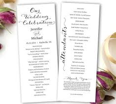 Free Microsoft Word Wedding Program Template Wedding Program Printable Wedding Program Template Tea